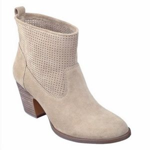 "Ivanka Trump ""Tiffany"" Perforated Suede Booties"